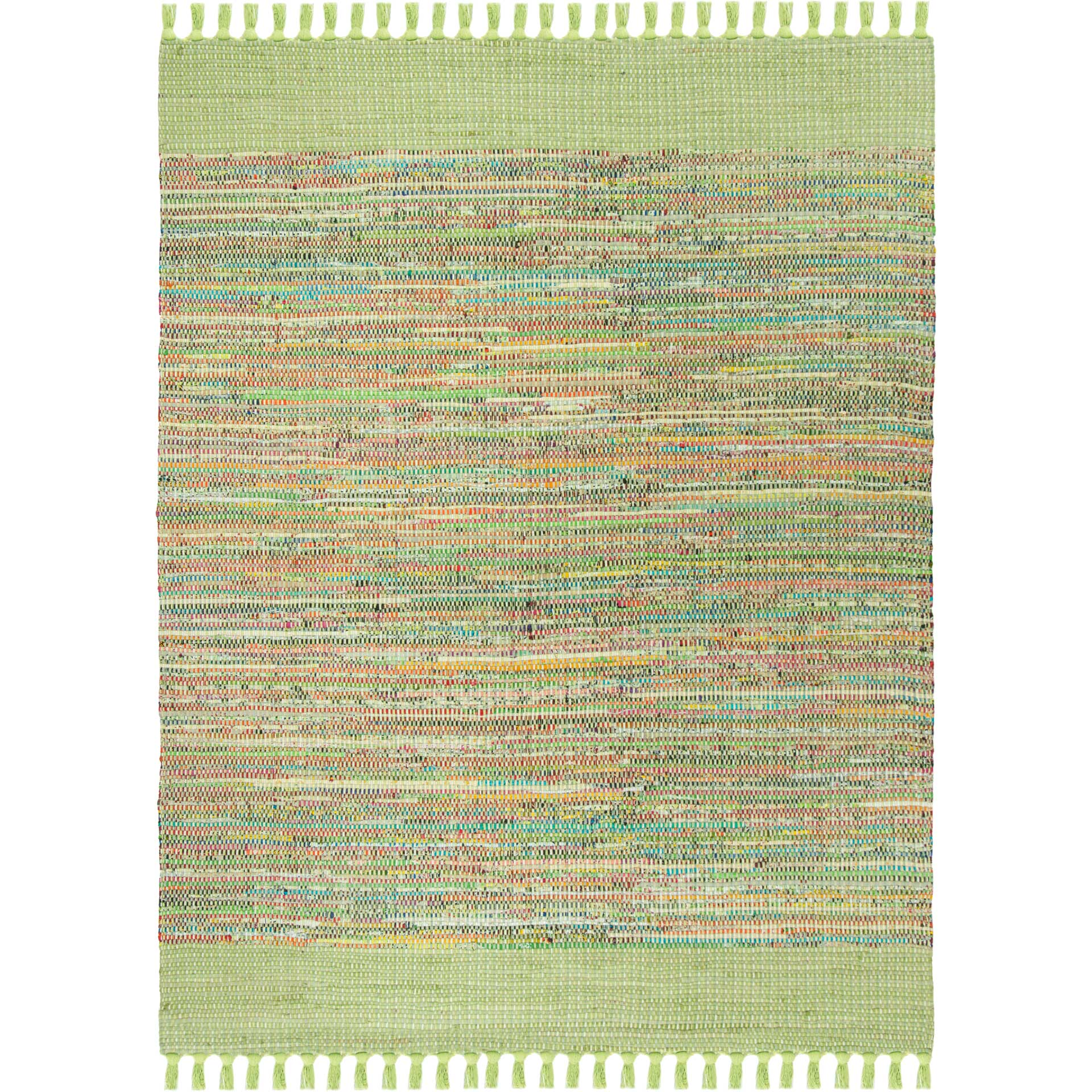 Montauk Border Green/Multi Area Rug
