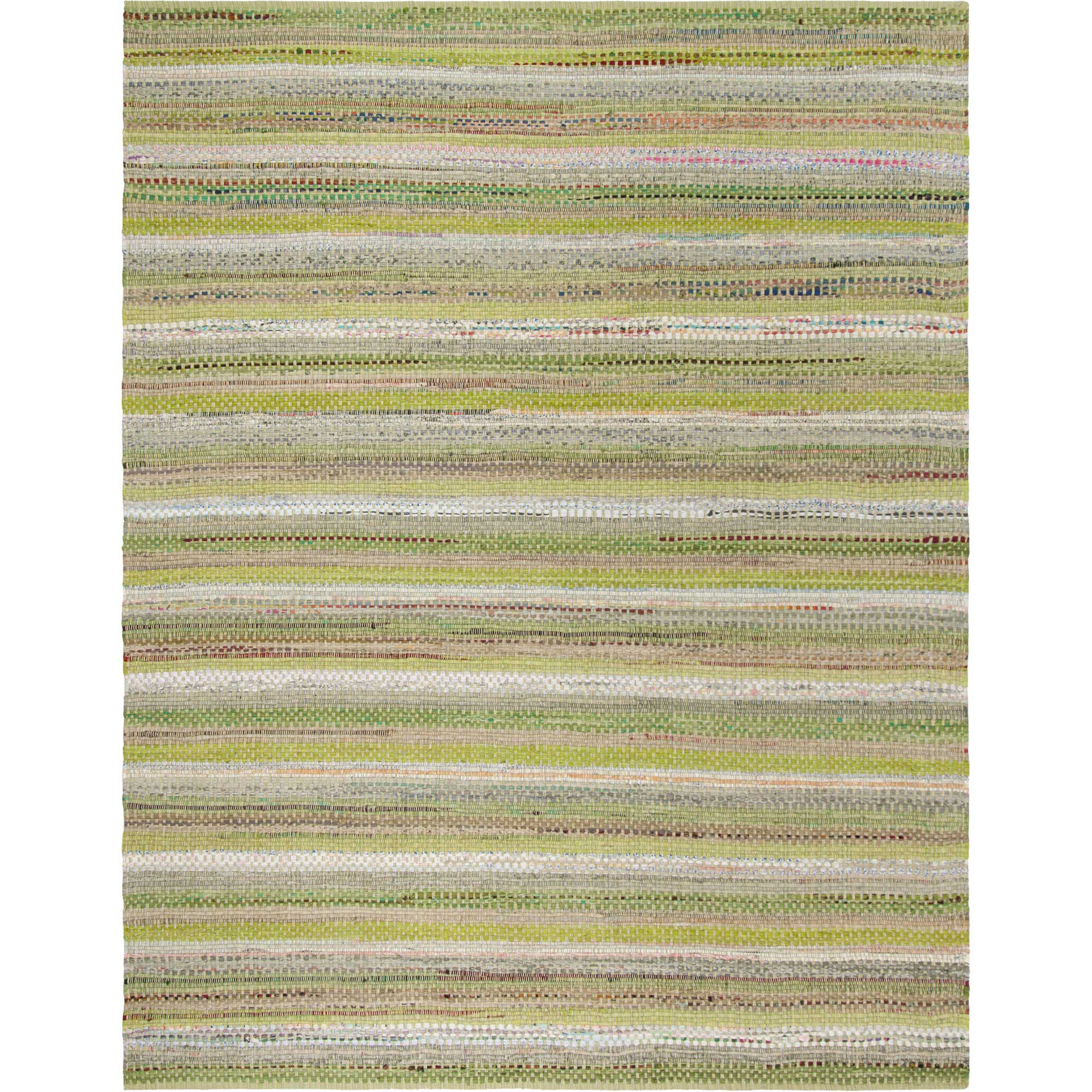 Montauk Stripe Green/Multi Area Rug