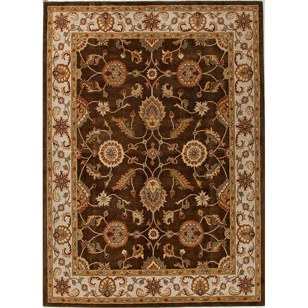 Mythos Maia Cocoa Brown/Dark Ivory Area Rug