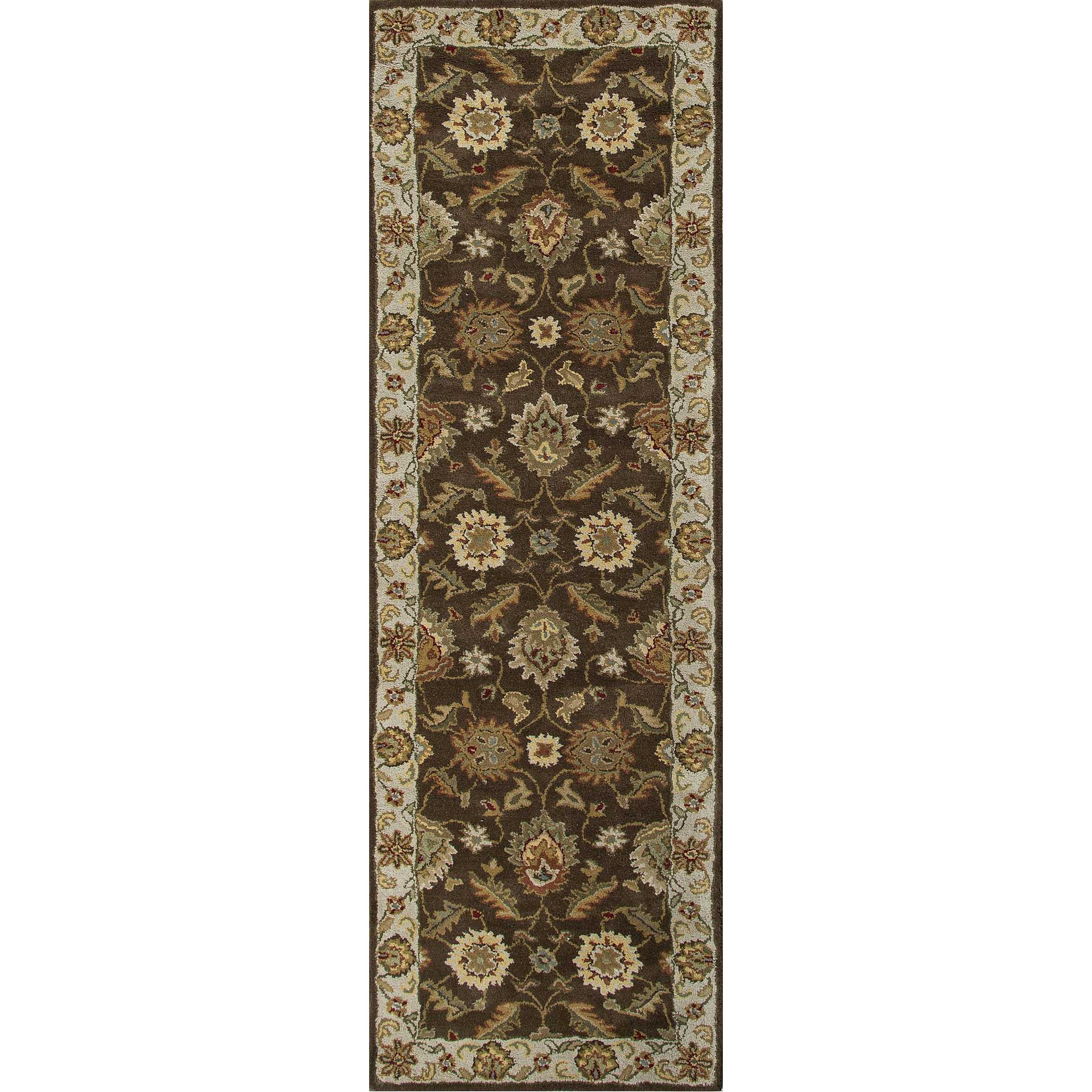 Mythos Maia Cocoa Brown/Dark Ivory Runner Rug