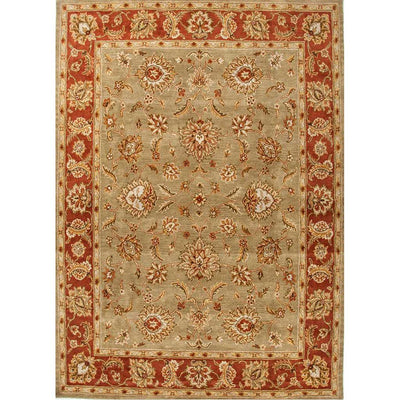 Mythos Anthea Kelp/Brick Red Area Rug