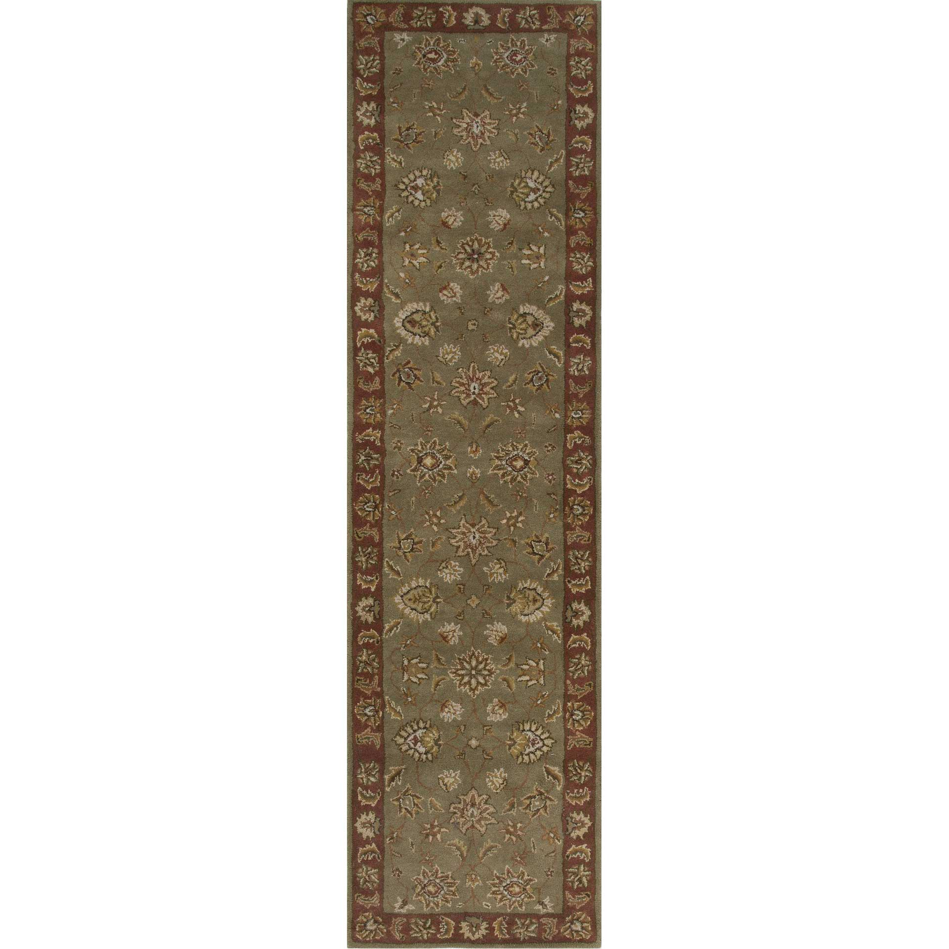 Mythos Anthea Kelp/Brick Red Runner Rug