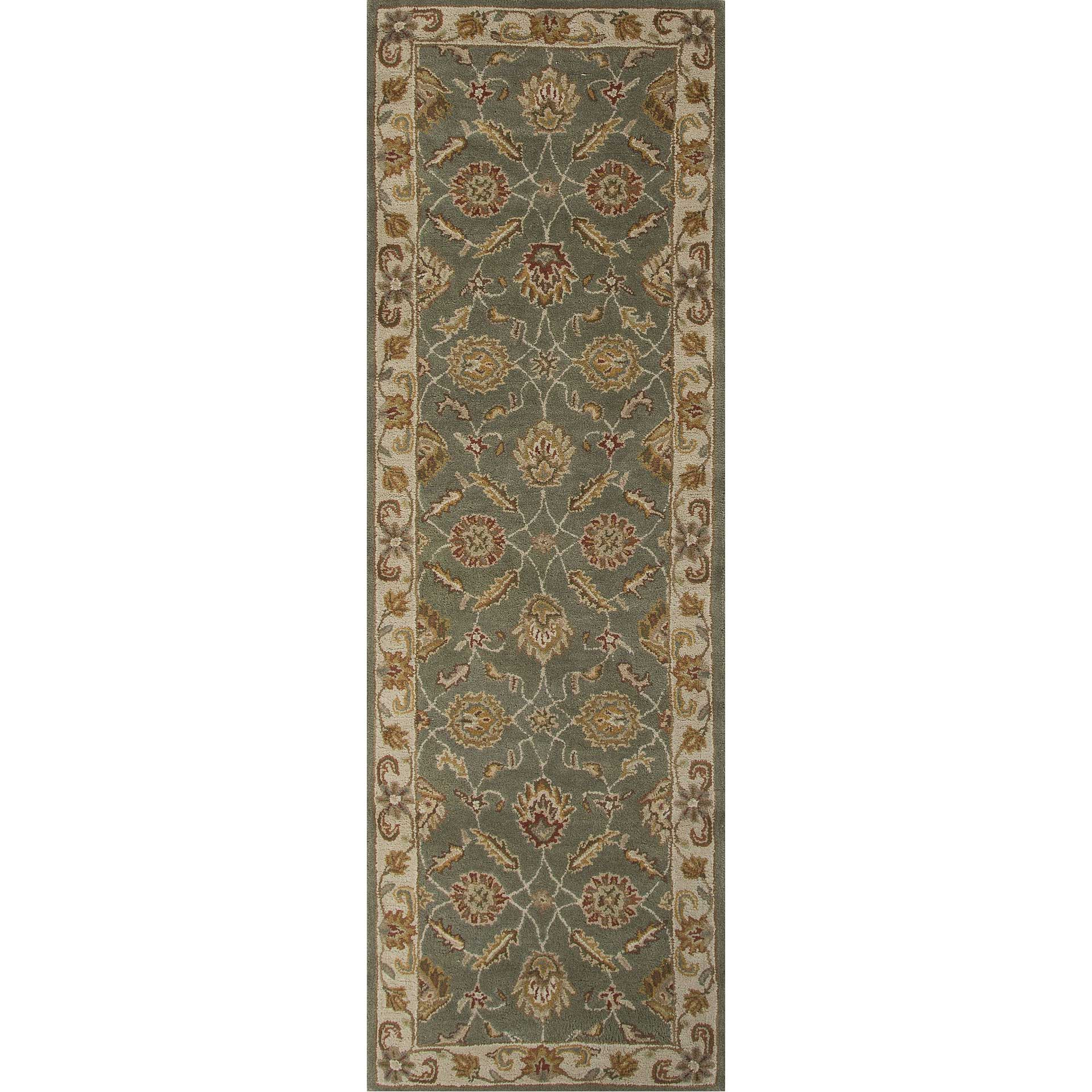 Mythos Callisto Sea Green/Light Gold Runner Rug