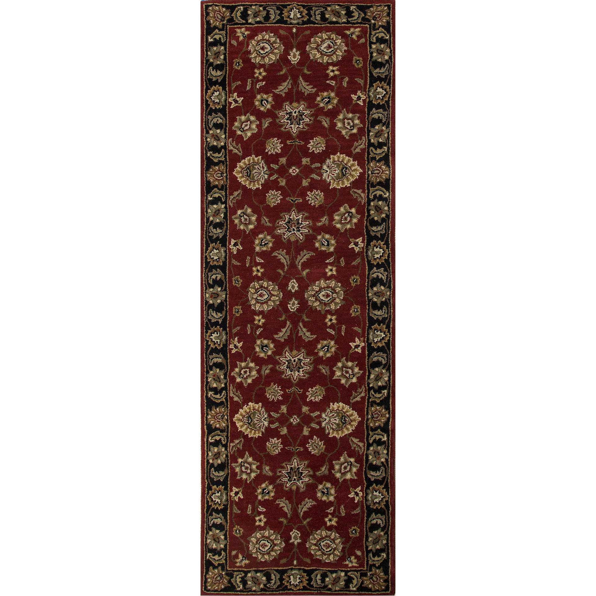 Mythos Anthea Red/Ebony Runner Rug