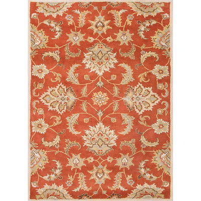 Mythos Abers Orange Rust/Lead Gray Area Rug