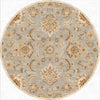 Mythos Abers Ice Blue/Antique White Round Rug