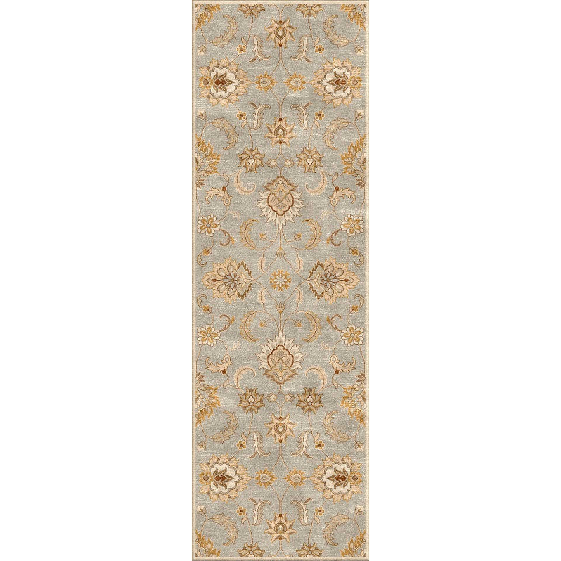 Mythos Abers Ice Blue/Antique White Runner Rug