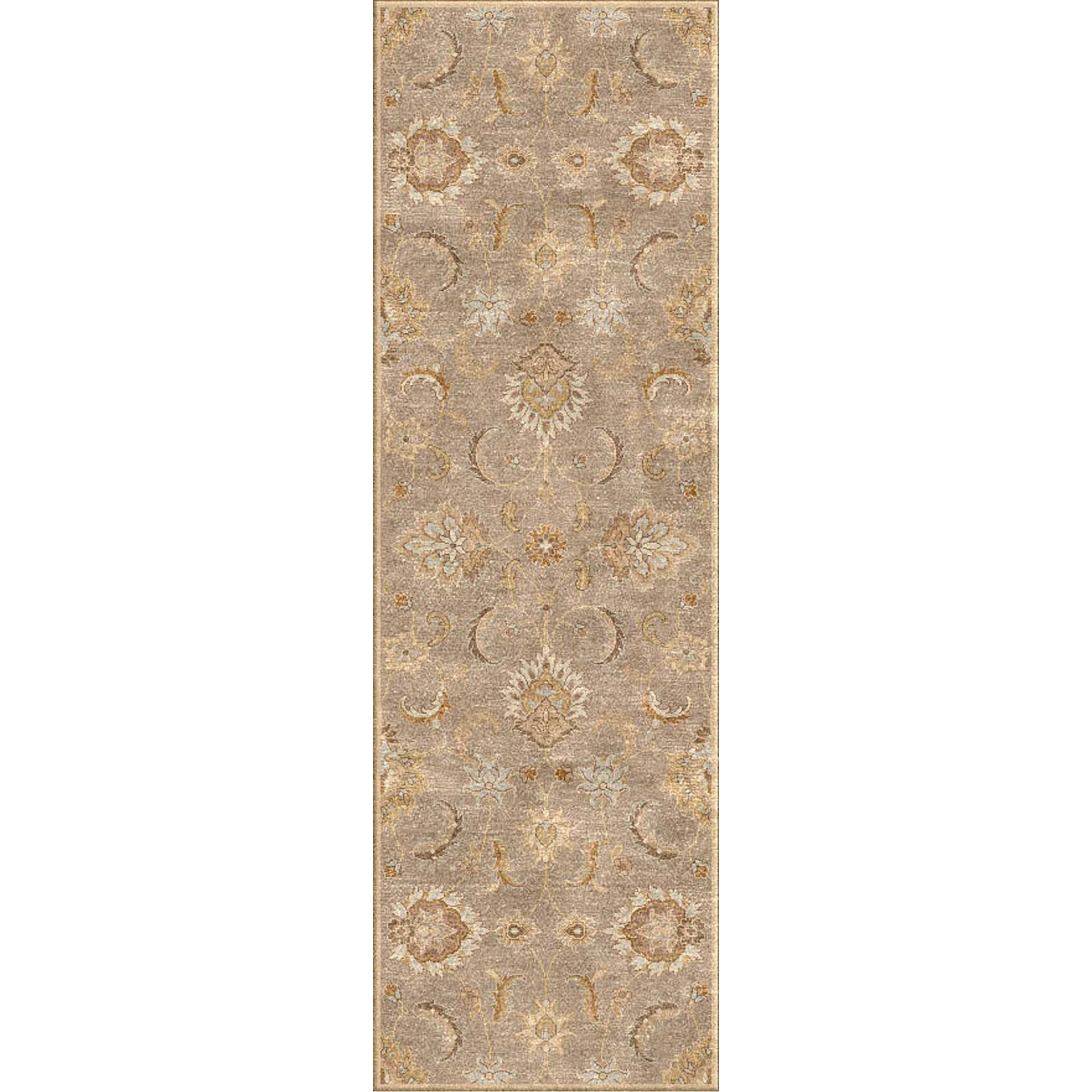 Mythos Abers Silver Gray/Soft Gold Runner Rug