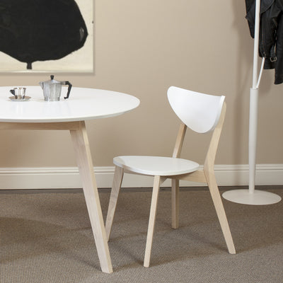 Montague Round Dining Table White/Nat