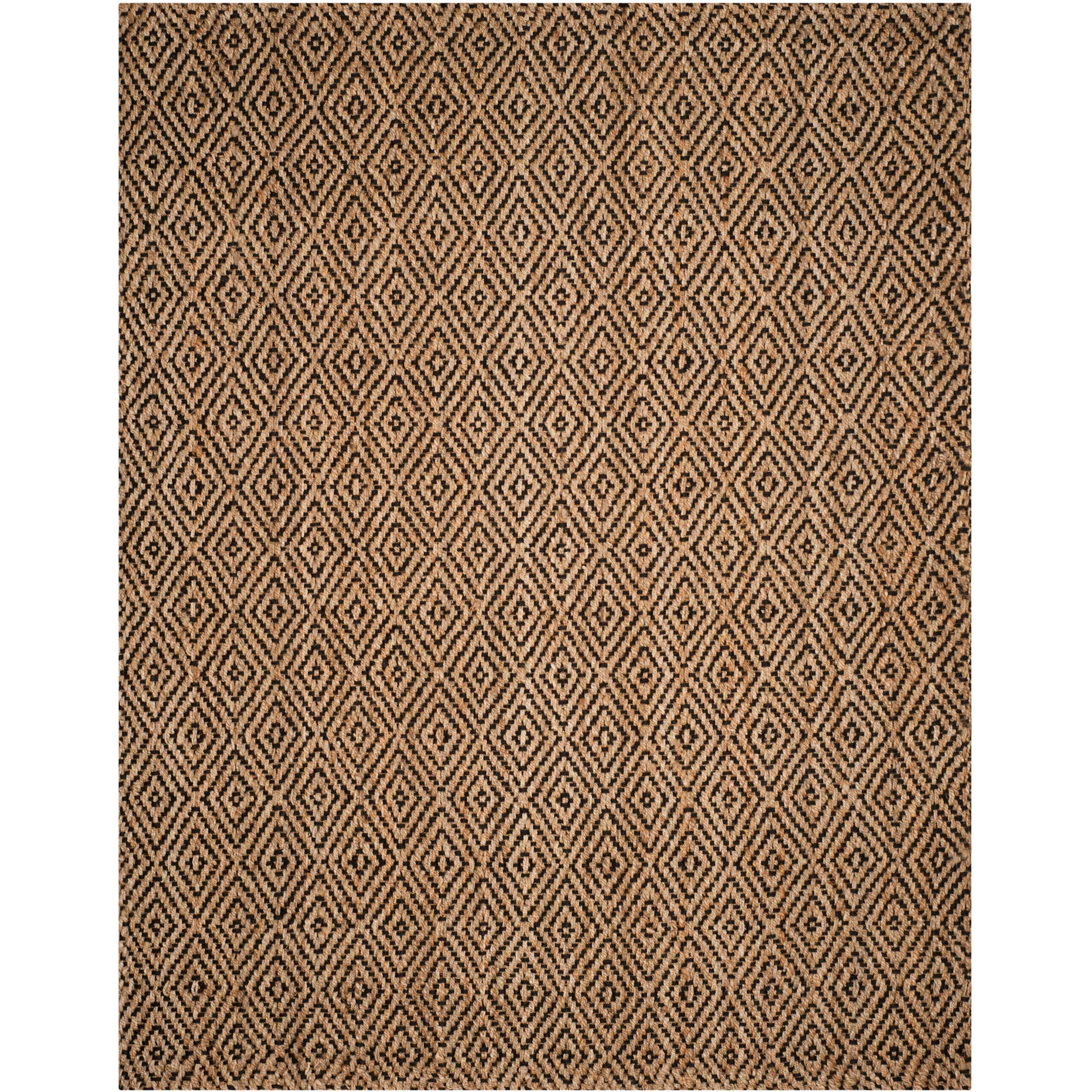 Natural Fiber Diamond Natural/Black Area Rug