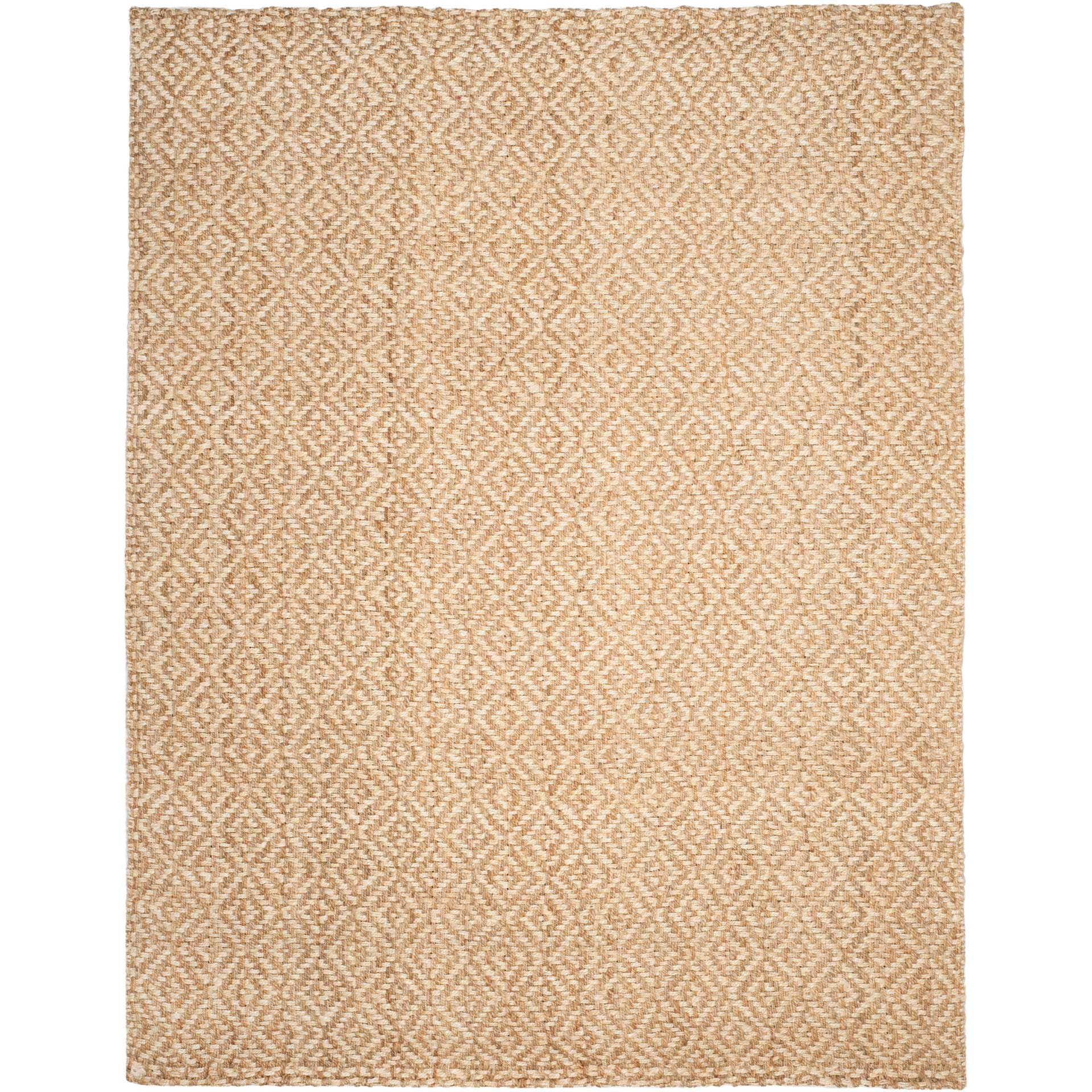 Natural Fiber Diamond Ivory/Natural Area Rug
