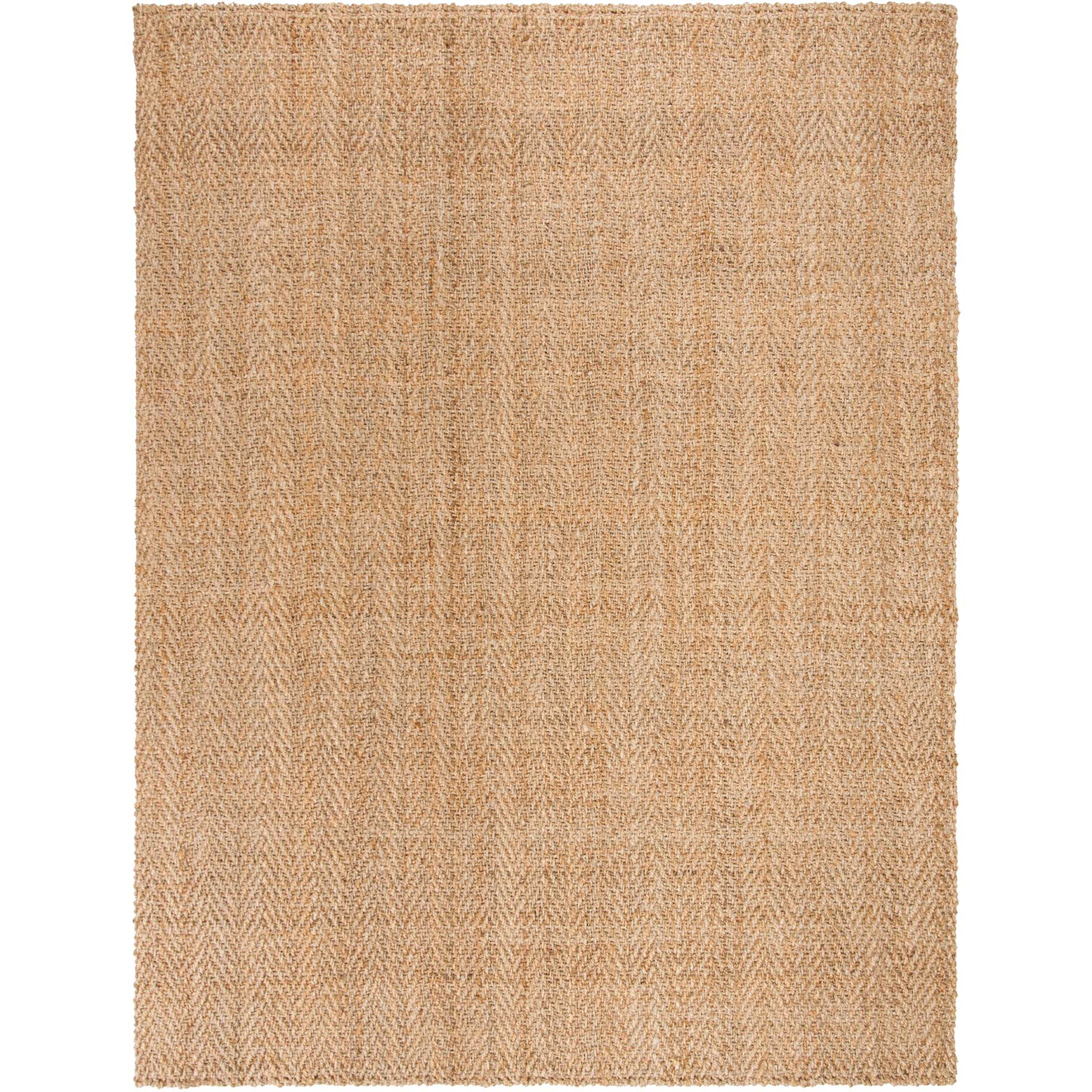 Natural Fiber Chevron Natural Area Rug