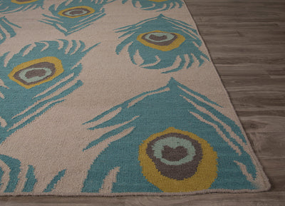 National Geographic Quill Feather Gray/Oil Blue Area Rug