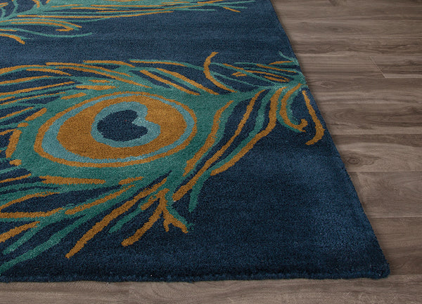 National Geographic Peacock Blueashes Bayou Area Rug Froy