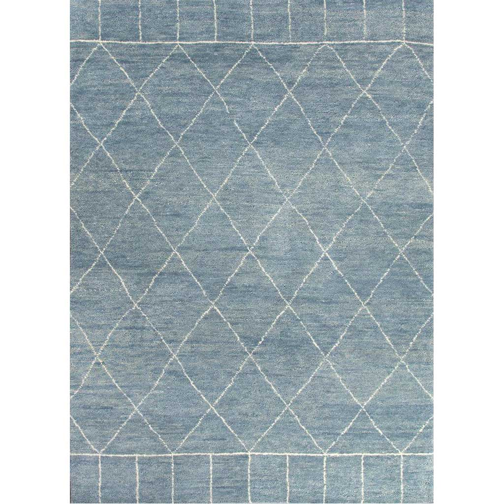 Nostalgia Tangier Ashley Blue/Snow White Area Rug