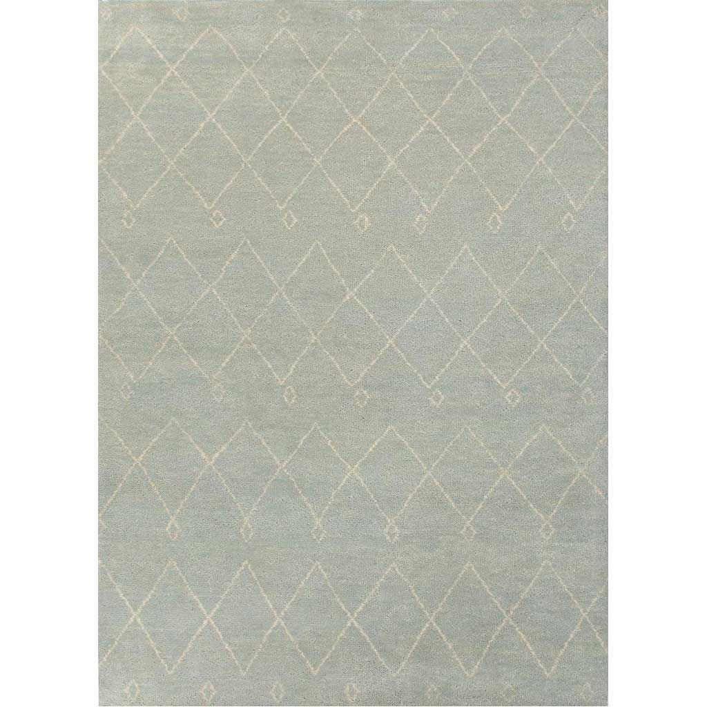 Nostalgia Casablanca Sterling Blue/Snow White Area Rug