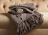National Geographic Ng-31 BlacK Coffee/Whisper White Throw