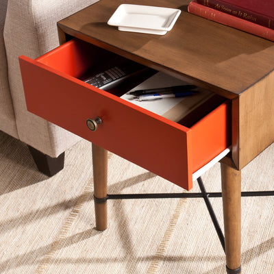 Nova Accent Table Red