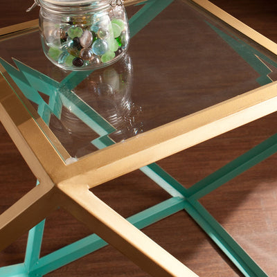 Janiston Accent Table Blue/Champagne