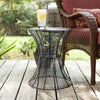 Contour Metal Accent Table Black