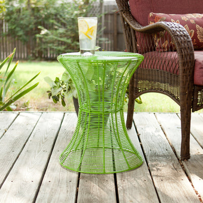 Contour Metal Accent Table Green