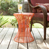Contour Metal Accent Table Orange