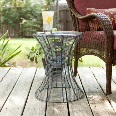 Contour Metal Accent Table Silver