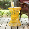 Contour Metal Accent Table Yellow
