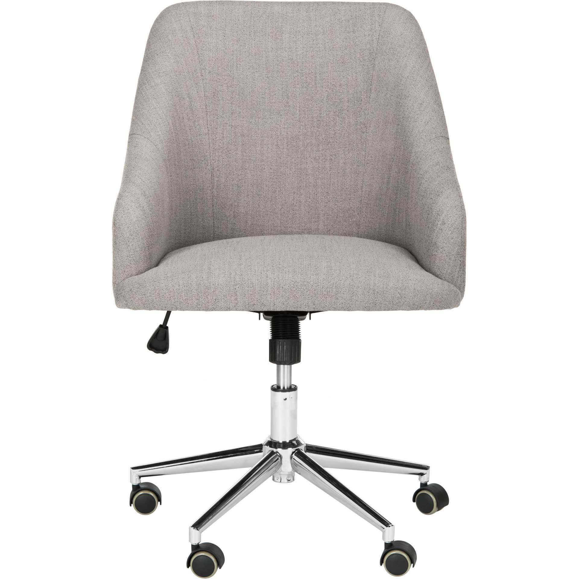 Adele Linen Chrome Leg Swivel Office Chair