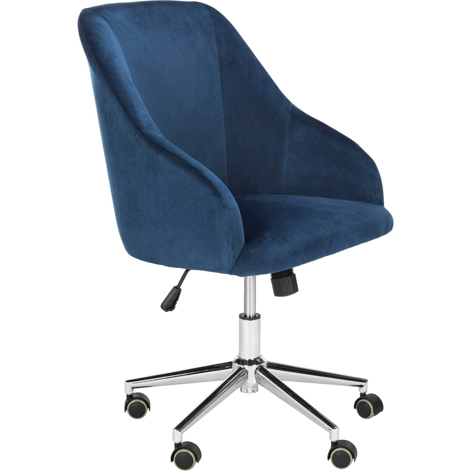 Adele Velvet Chrome Leg Swivel Office Chair
