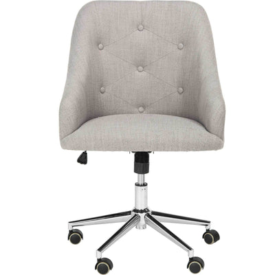 Evelyn Tufted Linen Swivel Office Chair