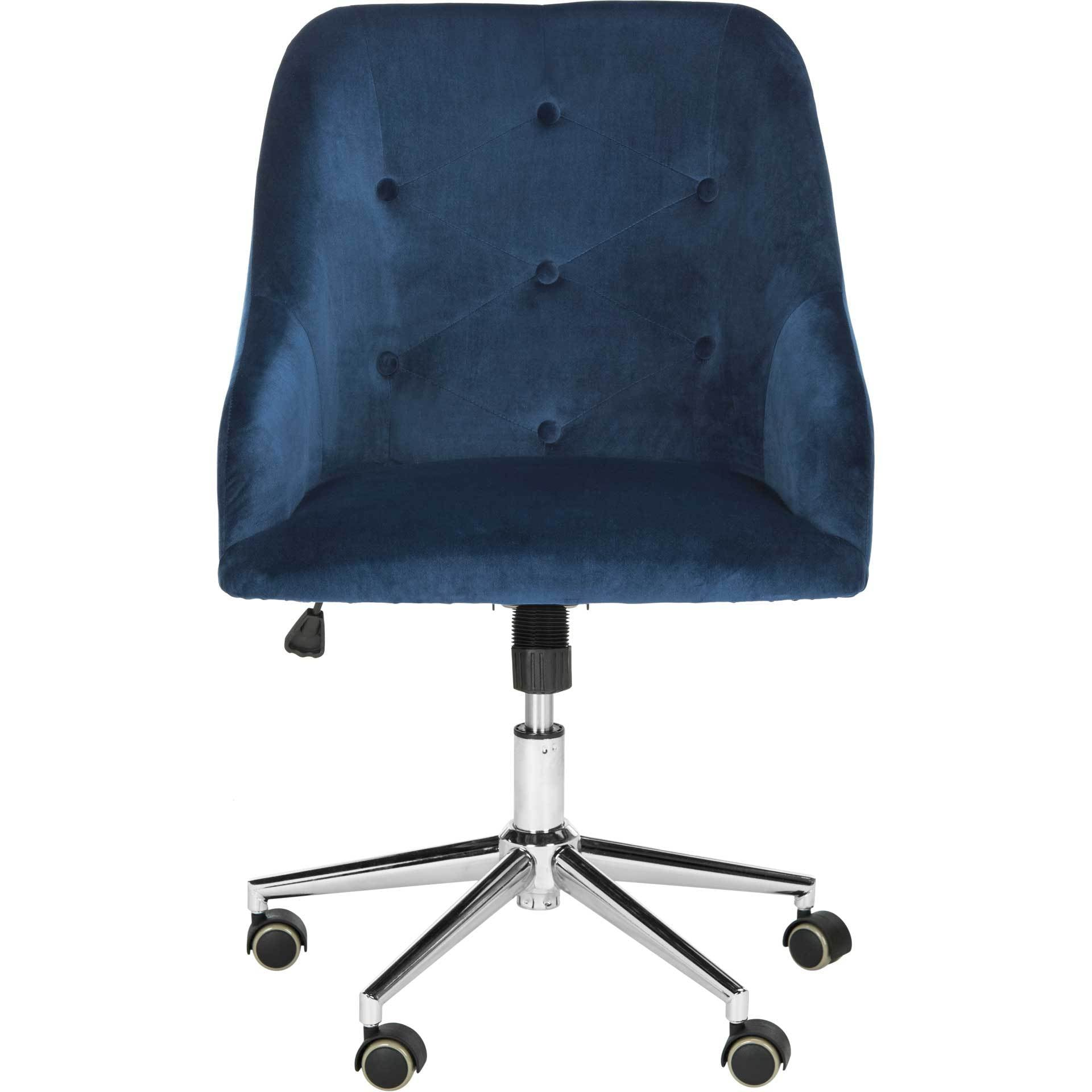 Evelyn Tufted Velvet Swivel Office Chair