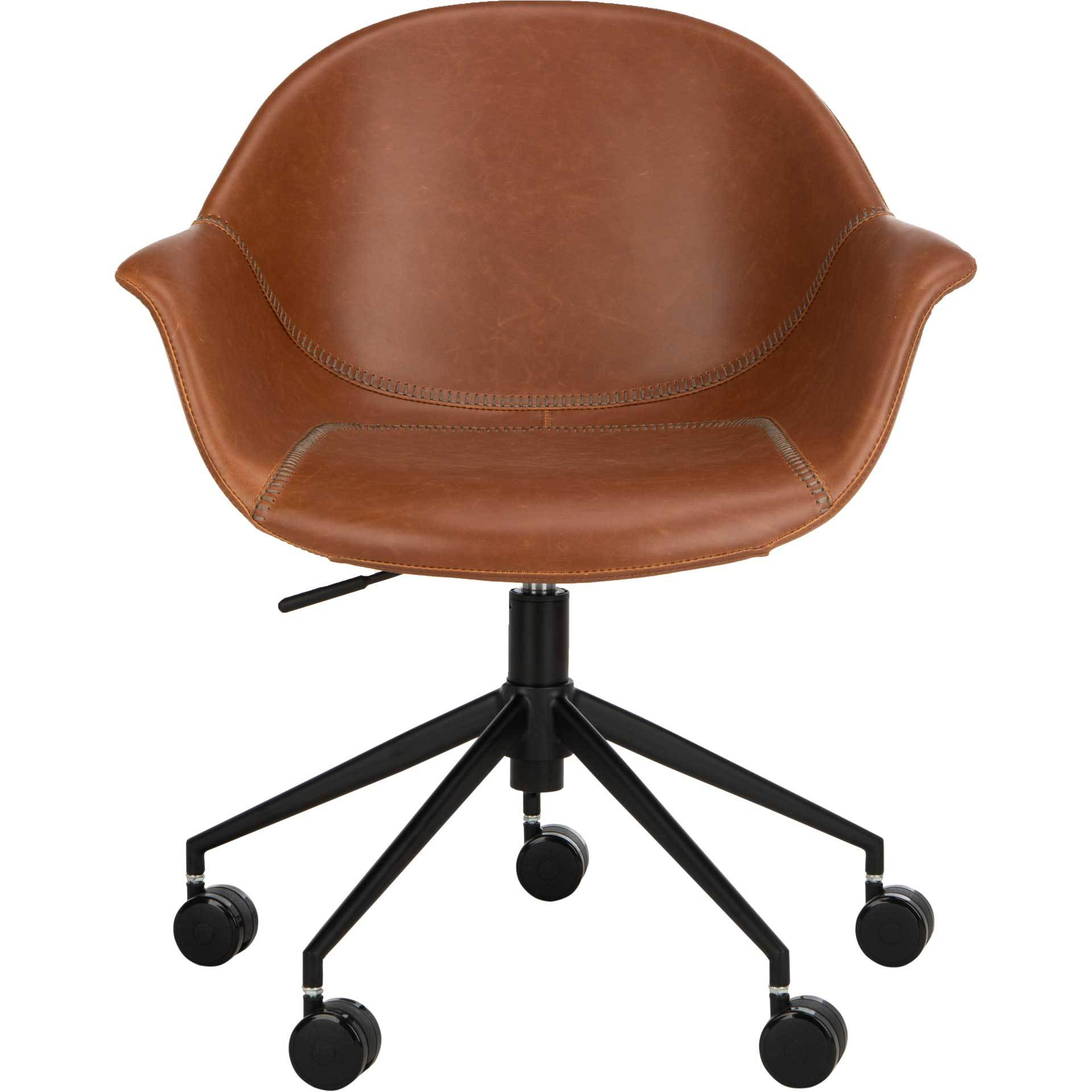 Emanuel Office Chair Light Brown/Black