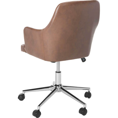 Caiden Swivel Office Chair Brown