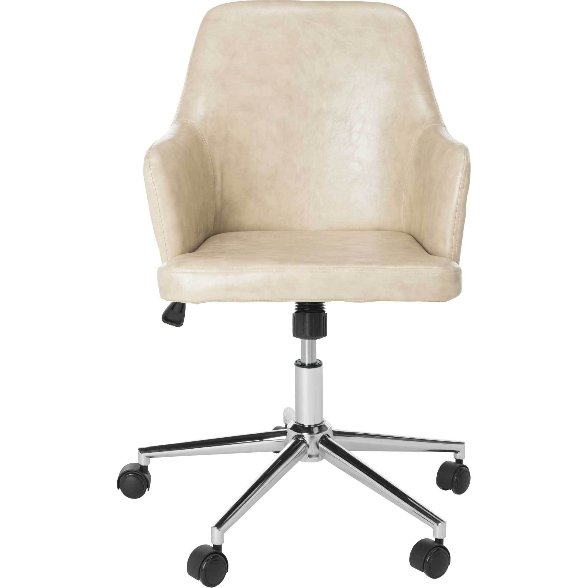 Caiden Swivel Office Chair Beige