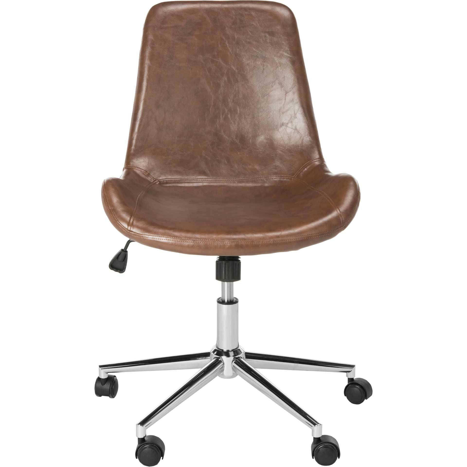 Flynn Swivel Office Chair Brown