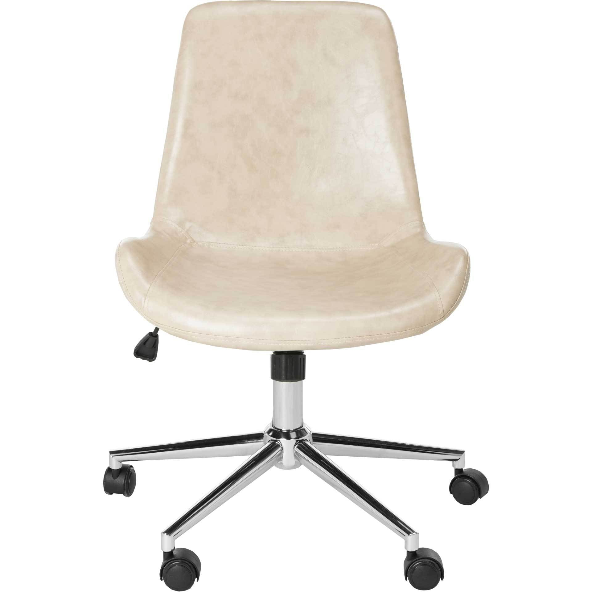 Flynn Swivel Office Chair Beige