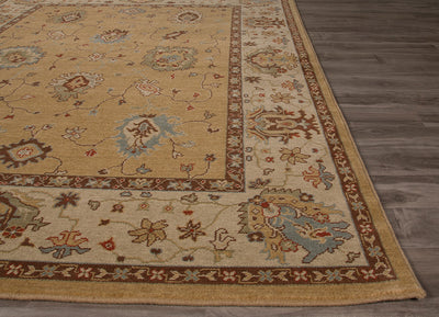 Orient Amri Prairie Sand/Red Wood Area Rug