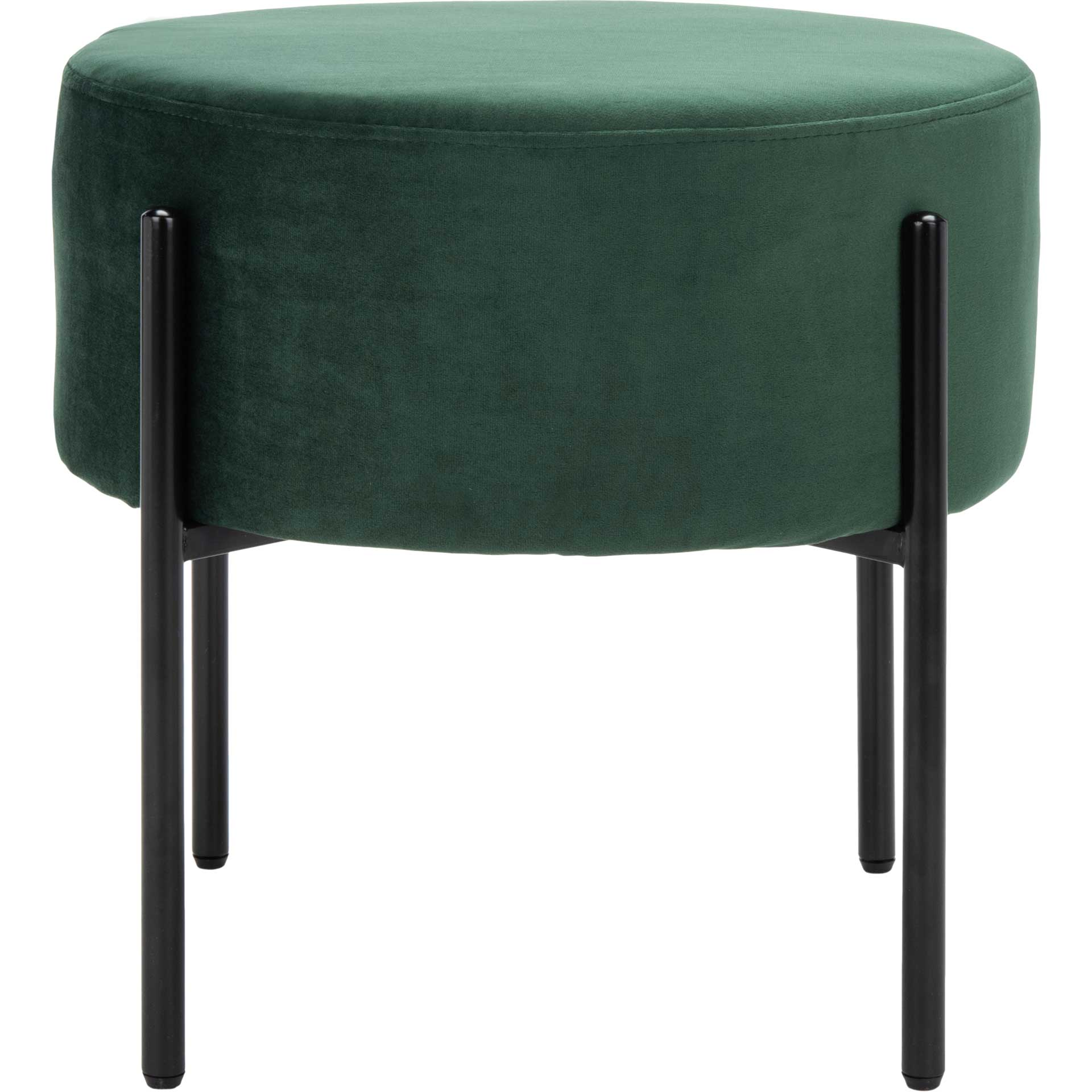 Lincoln Round Ottoman Malachite Green/Black