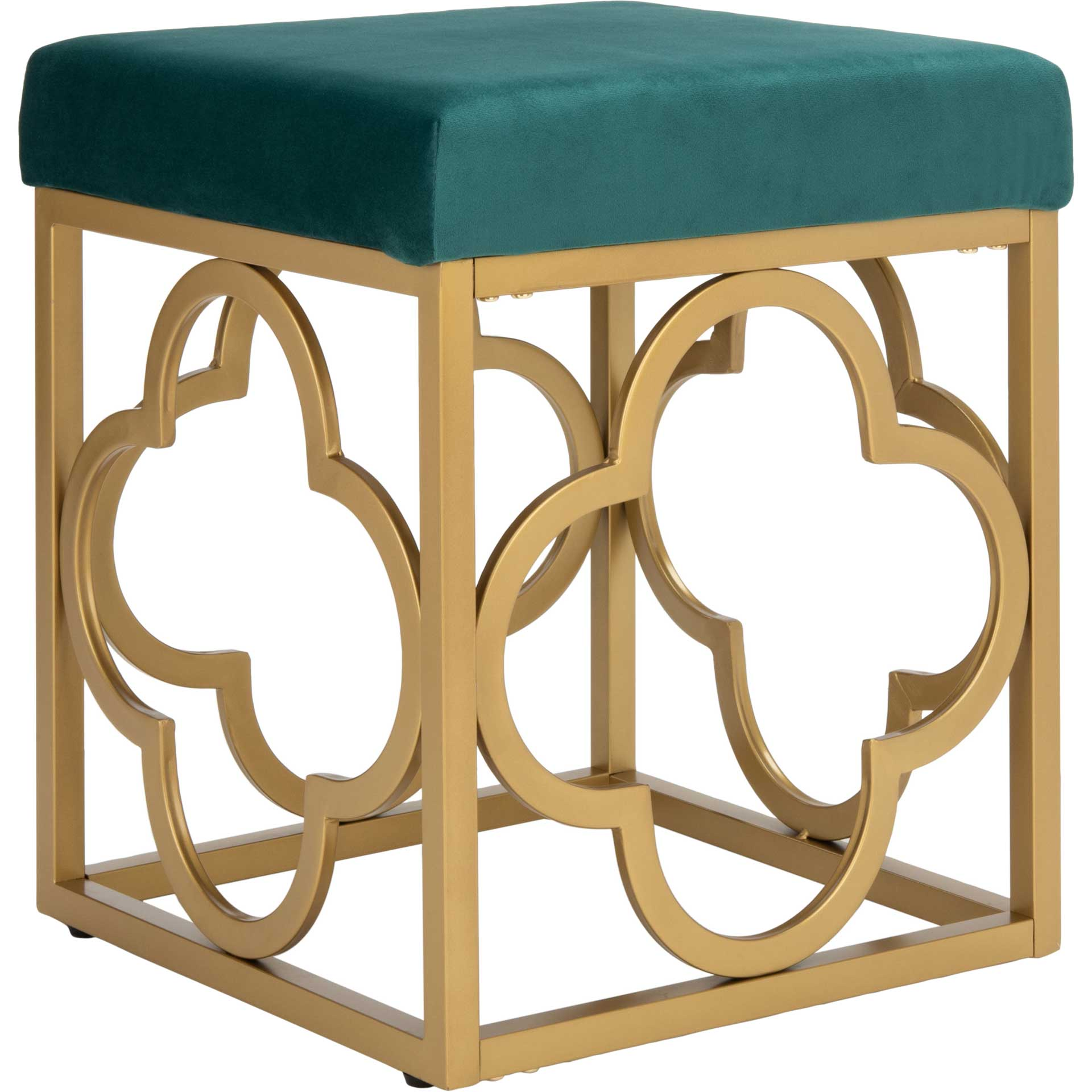 Florence Square Ottoman Emerald/Gold
