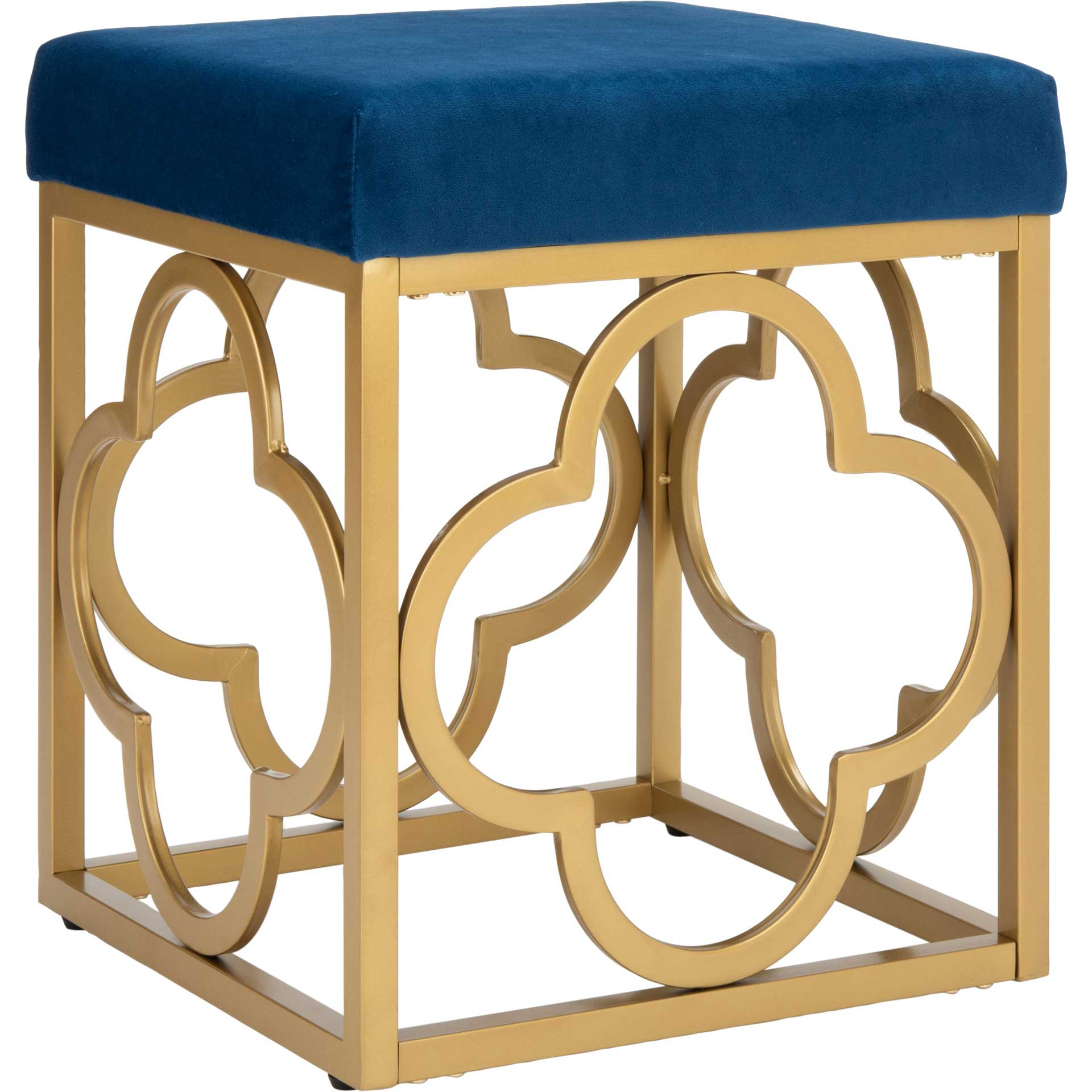 Florence Square Ottoman Navy/Gold