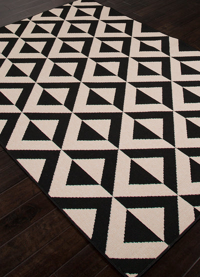 Patio Marquise Black/Ivory Area Rug