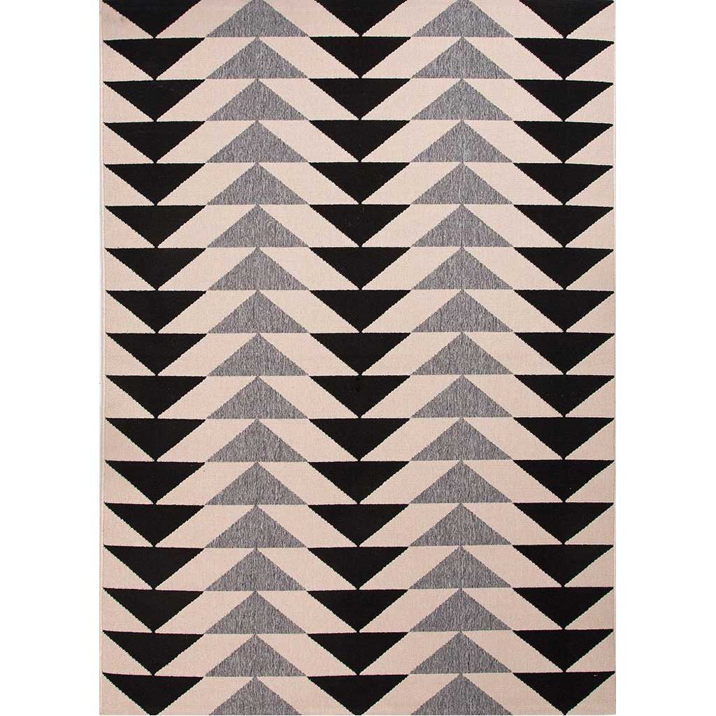 Patio Mckenzie Black/Gray Area Rug