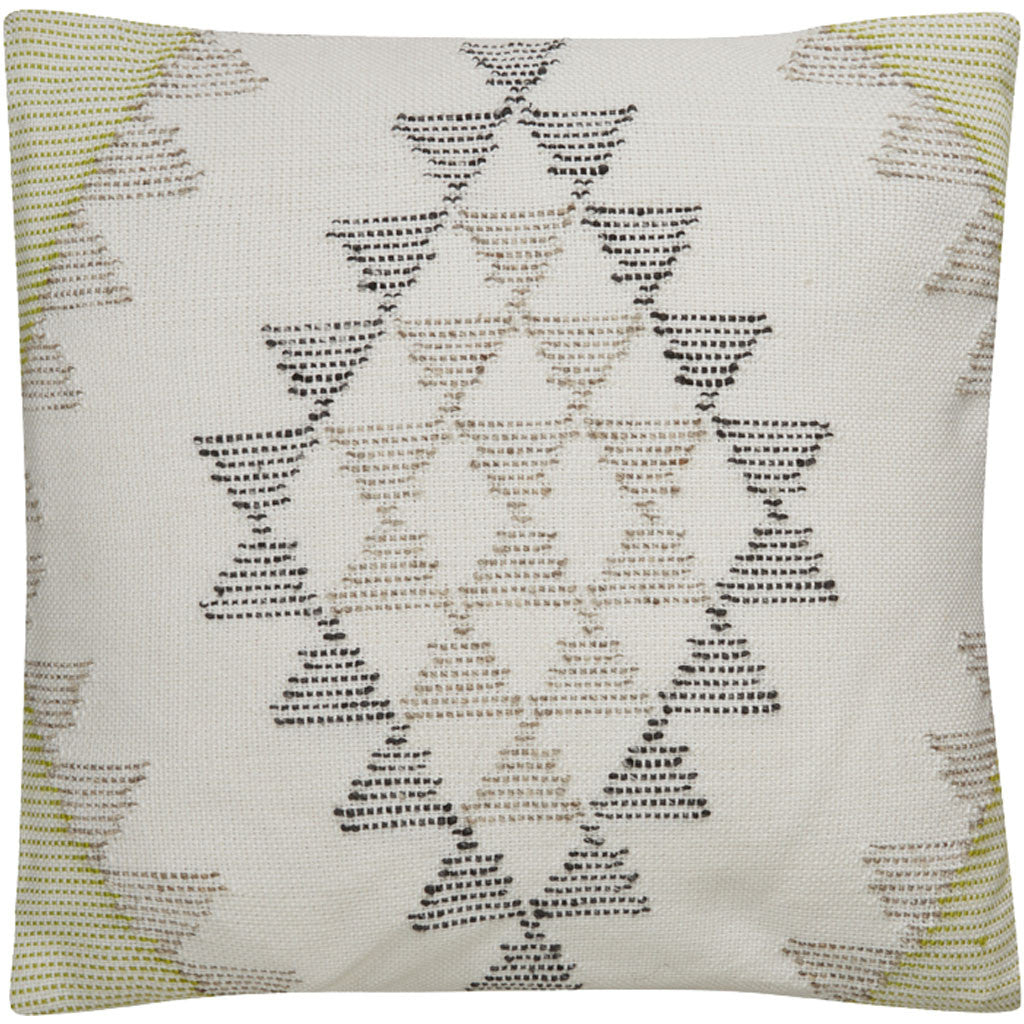 Peykan Pey-01 Ivory/Green Pillow