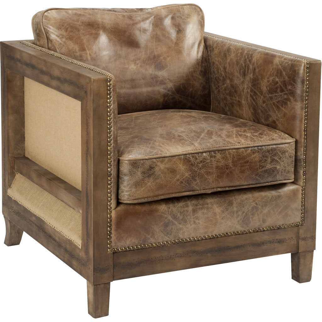 Dante Club Chair Light Brown