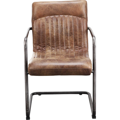 Adnan Arm Chair Light Brown (Set of 2)
