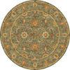 Poeme Rennes Sea Green Round Rug
