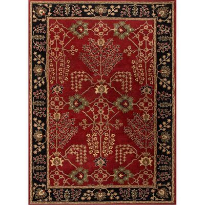 Poeme Chambery Red/Ebony Area Rug