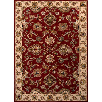 Poeme Valence Red/Soft Gold Area Rug