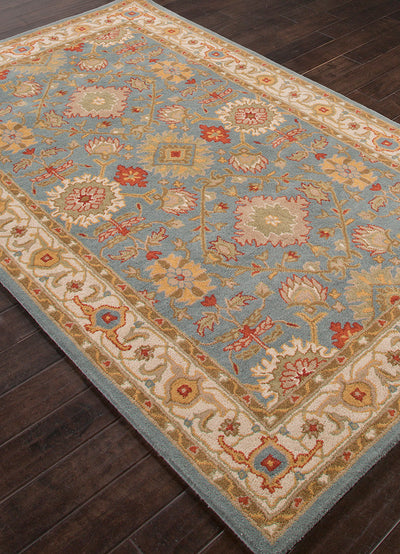 Poeme Empire Seaside Blue/Cloud White Area Rug